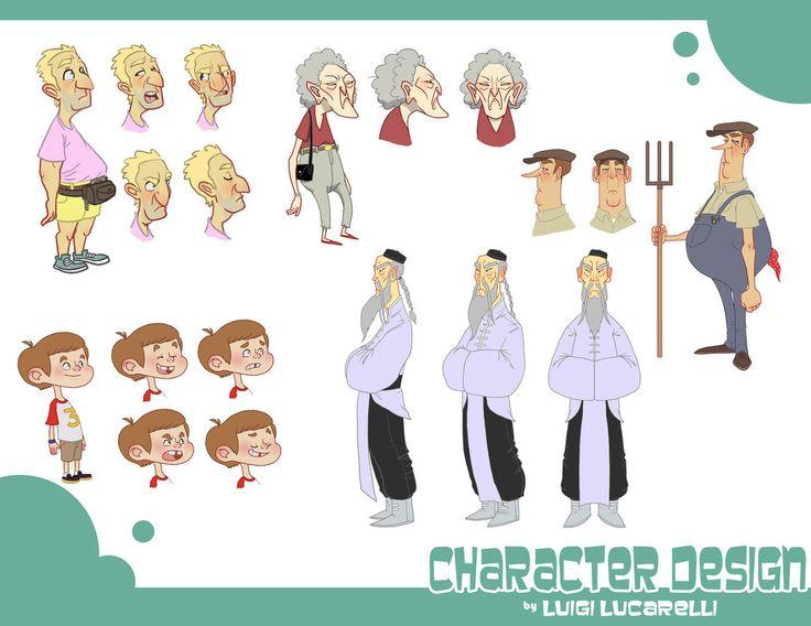 Character Design Page : Luigi lucarelli character design page dessiner c est