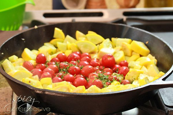 Yellow Summer Squash Recipe with Blistered Tomatoes | Recipe