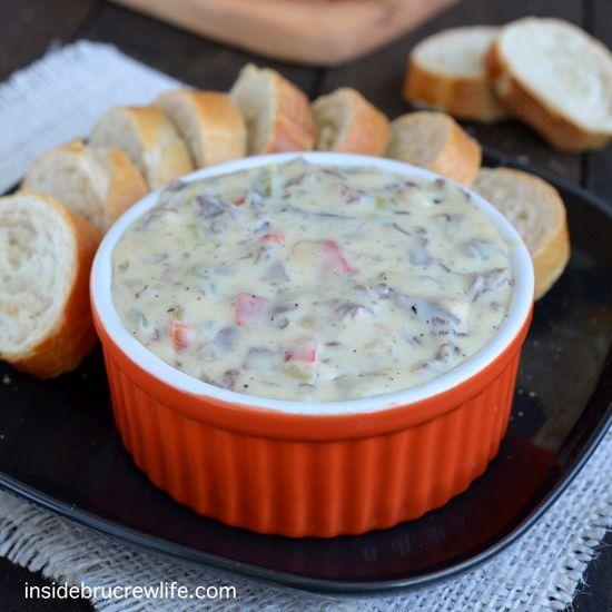 Philly Cheese Steak Queso Dip - the taste of a Philly Cheese Steak ...