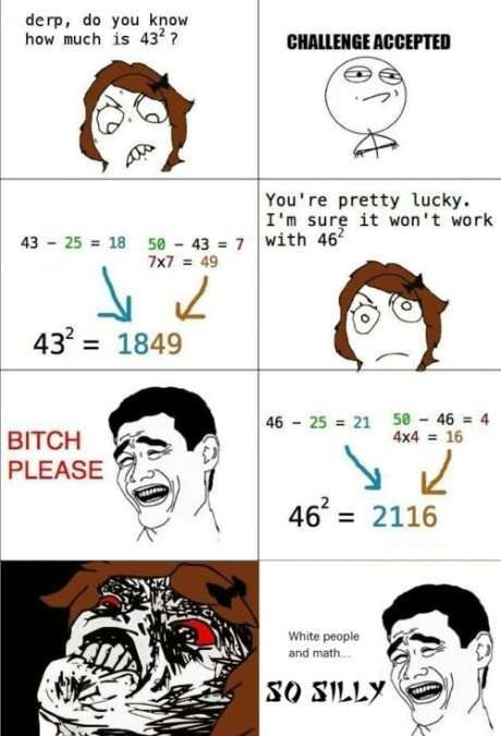 WHITE PEOPLE AND MATH