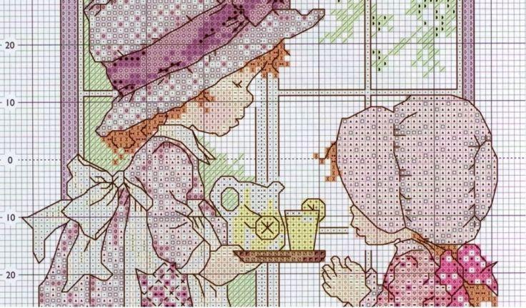 Сестренки вышивка крестом схема