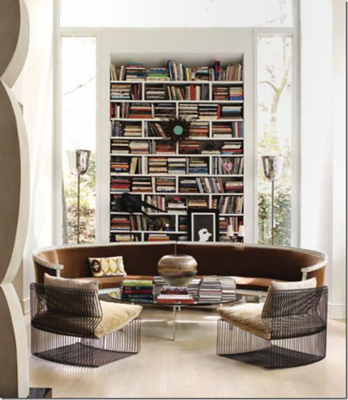 Design Living With A Cool Home Library Home Interiors Pinterest