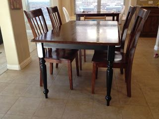 Kendra Made Refinishing a Kitchen Table