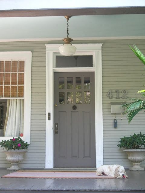 Back entry grey door das haus pinterest for Back door entrance