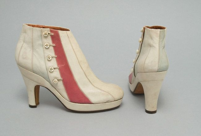 Woman's Boots  Made in Paris, France, Europe  Winter 1939-40    Designed by Elsa Schiaparelli