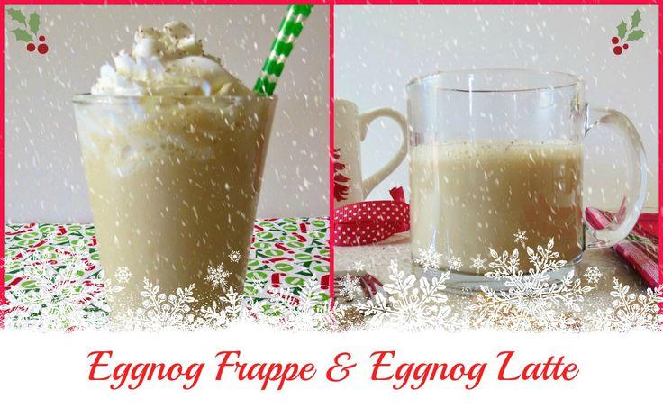 Skinny Eggnog Frappe, cold holiday coffee drink made with light eggnog ...