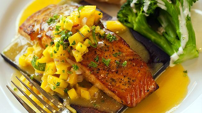 Salmon with Mango Salsa | Recipe