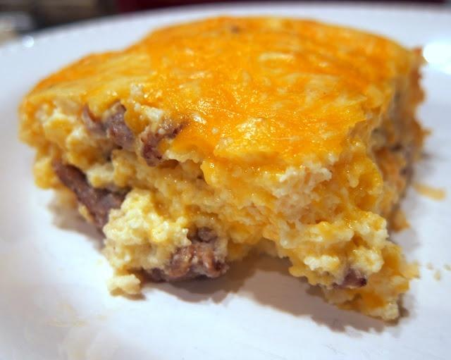 Crustless Sausage Cheese Quiche | Plain Chicken