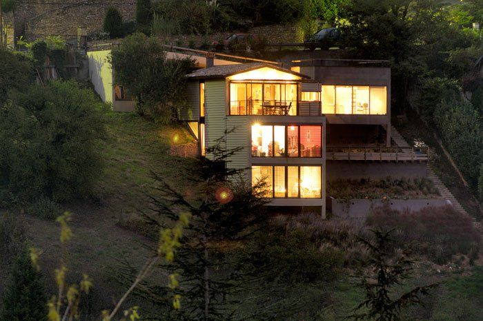 Maison sur terrain en pente  Architecture & Design  Pinterest