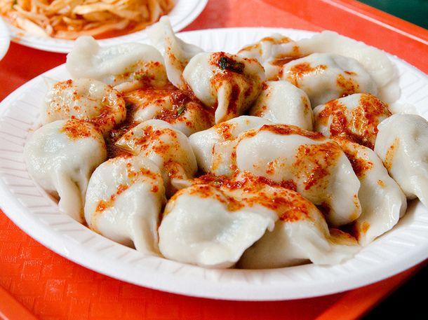 , Shrimp, and Chive Dumplings at Chinese-Korean Noodles and Dumpling ...