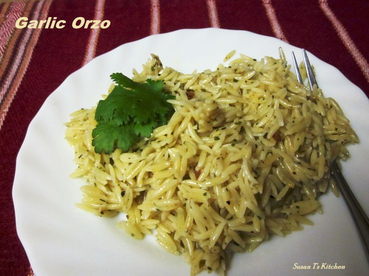 Garlic Orzo With Olive Oil And Herbs | Susan T's Kitchen | Pinterest