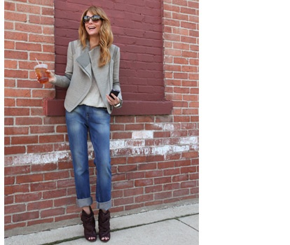 Ankle boots and cuffed jeans for fall
