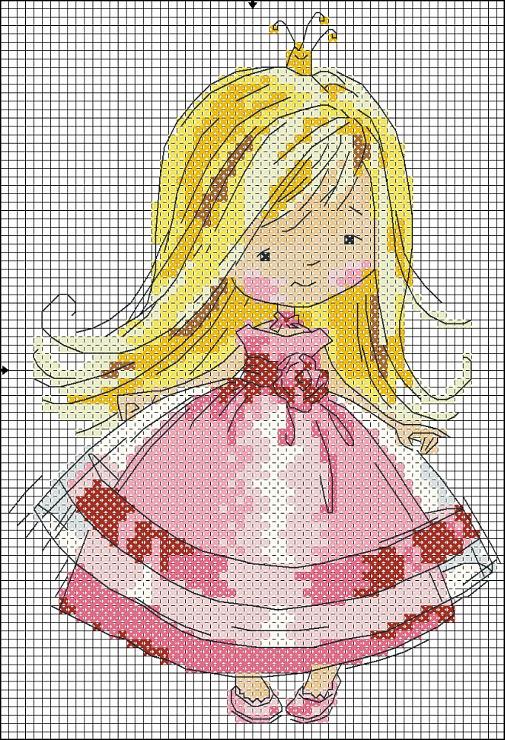 Вышивки принцесс крестом с схемой