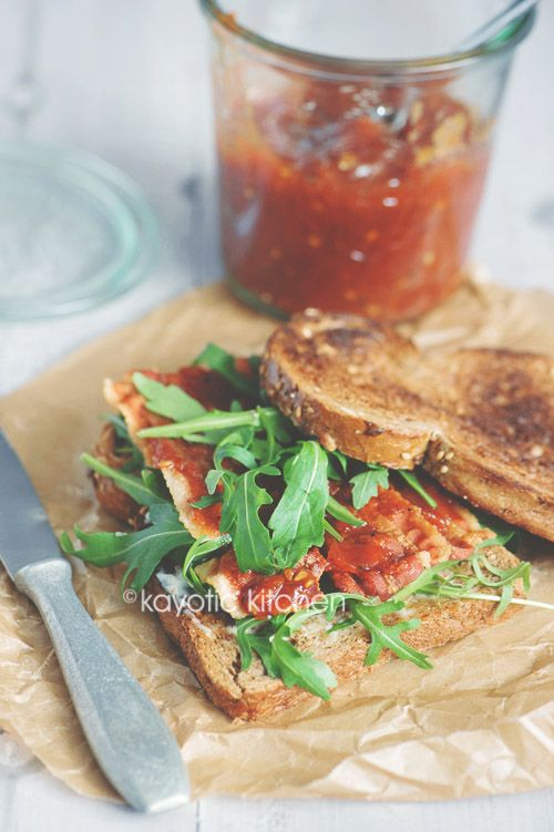 bacon sandwiches with bacon basil mayo corn brulee with spicy candied ...