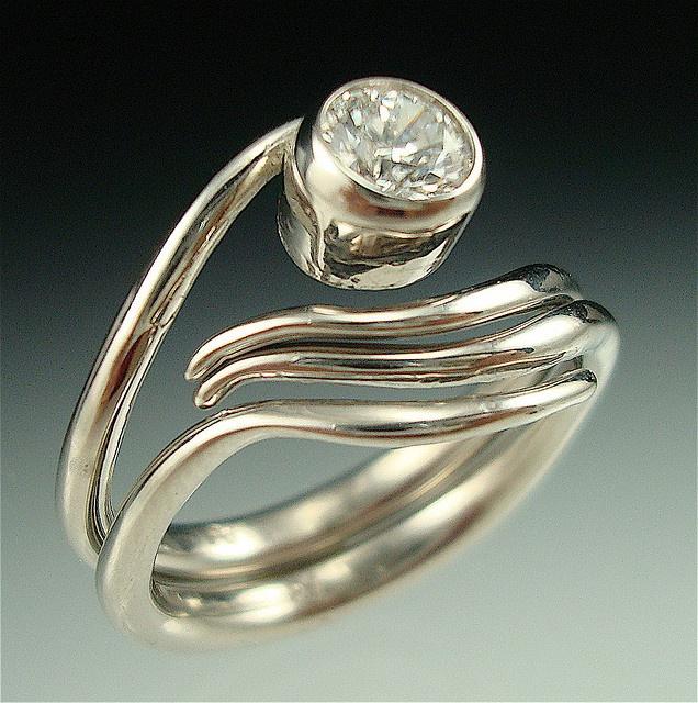 Vine ring set by danielle miller jewelry via flickr