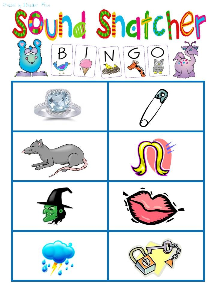 Sound Snatcher Bingo -- great for small group reading/phonics.  Directions included -- FREE