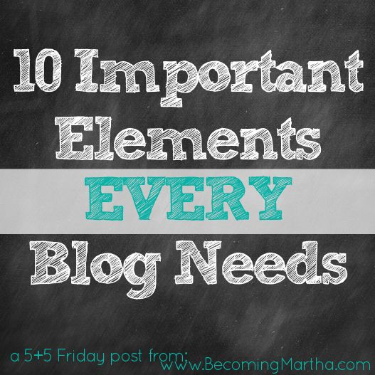 Important Elements of Your Blog