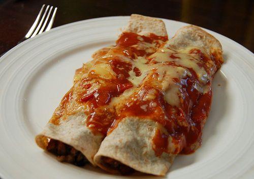 Slow-Cooker Black Bean Enchiladas Recipe — Dishmaps