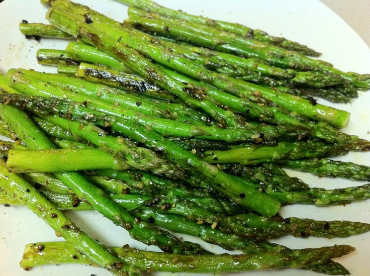 Lemon-Garlic Asparagus | Food | Pinterest