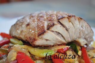 Tuna fillets with veggies recipe! | Shabbat (Fish) | Pinterest