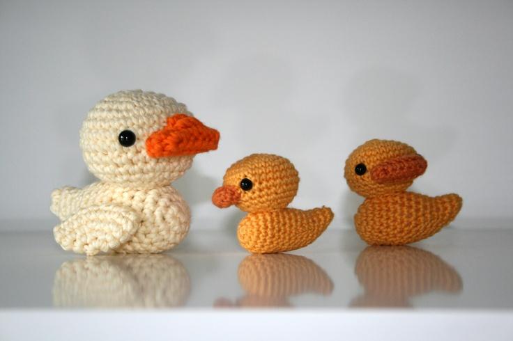 Amigurumi Duck : The duck family amigurumi Amigurumi (? ?) Pinterest