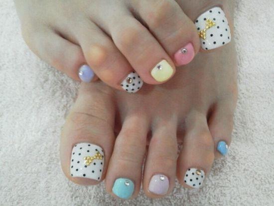 Spring Toe Nail Designs : Cute spring toe nail design nails