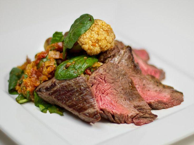 Spiced Ginger Steak Salad with Cauliflower / @DJ Foodie / DJFoodie.com