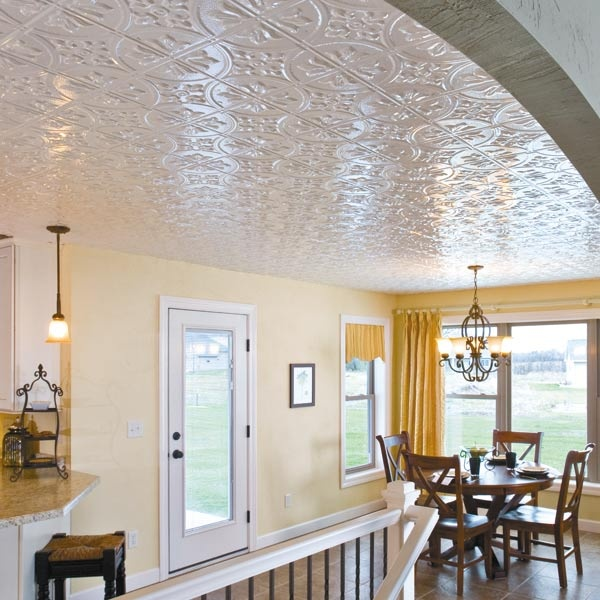 alternative to drop ceilings by fasade system attaches to floor