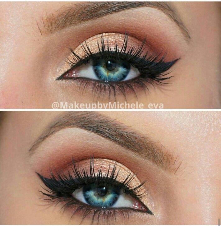 Homecoming makeup blue eyes