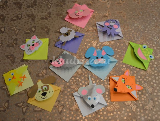 Закладки для книг своим руками из бумаги для детей фото
