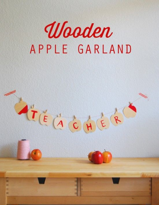 apple garland on onecharmingparty.com #backtoschool #teacher