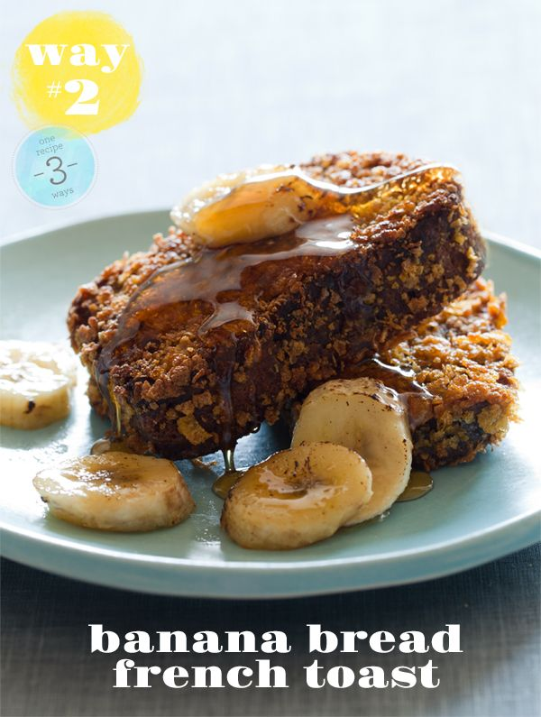 This Banana Bread French Toast post via @SpoonForkBacon is brilliant.