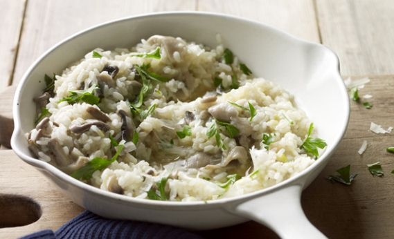 thyme cream risotto with leeks shiitake mushrooms and truffles rezept ...