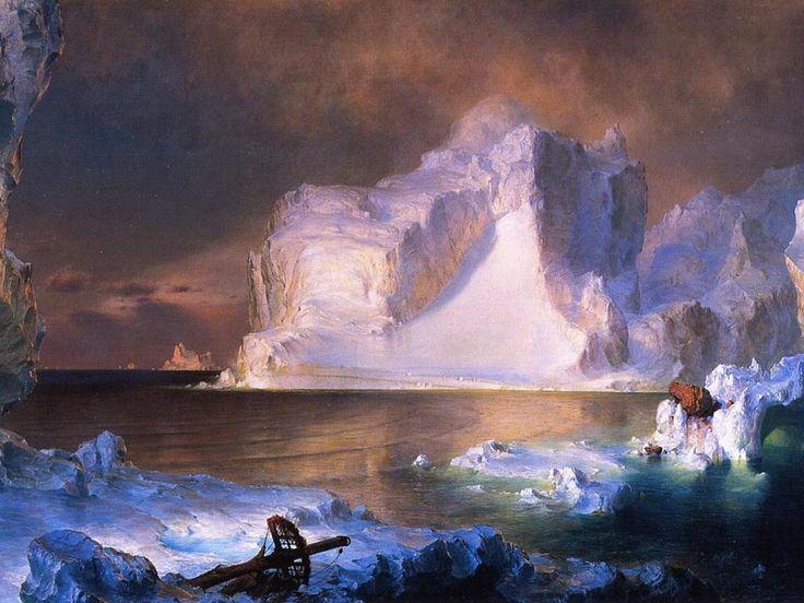 Frederick church the icebergs icebergs pinterest for Frederick church paintings