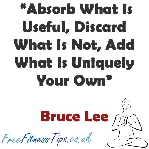 Absorb what is useful, Discard what is not, Add wh by ...