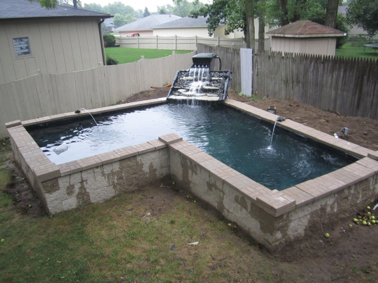6 foot deep koi pond house projects pinterest for How deep should a koi pond be