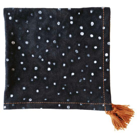 Black dot linen napkin set huntersalley cheap thrills pinterest