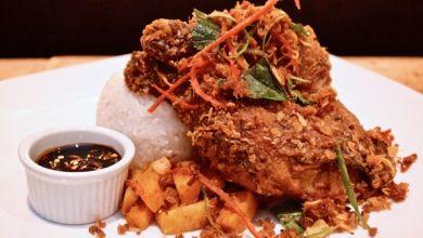 Chef Andrew Pressler serves galangal fried chicken at Jo's restaurant ...