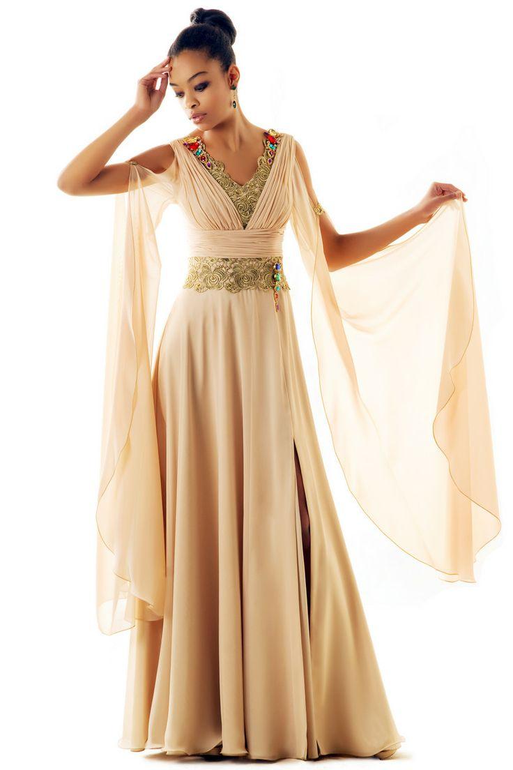 Вечерние длинные платья в греческом стиле