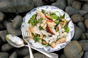 Poached chicken & nectarine salad | Chicken, Eggs, Lamb, Beef & Pork ...