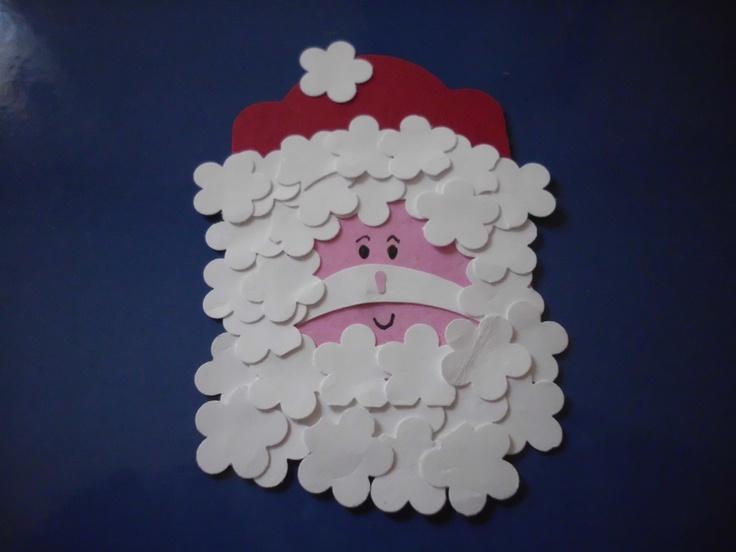 Santa claus tag | My crafts | Pinterest
