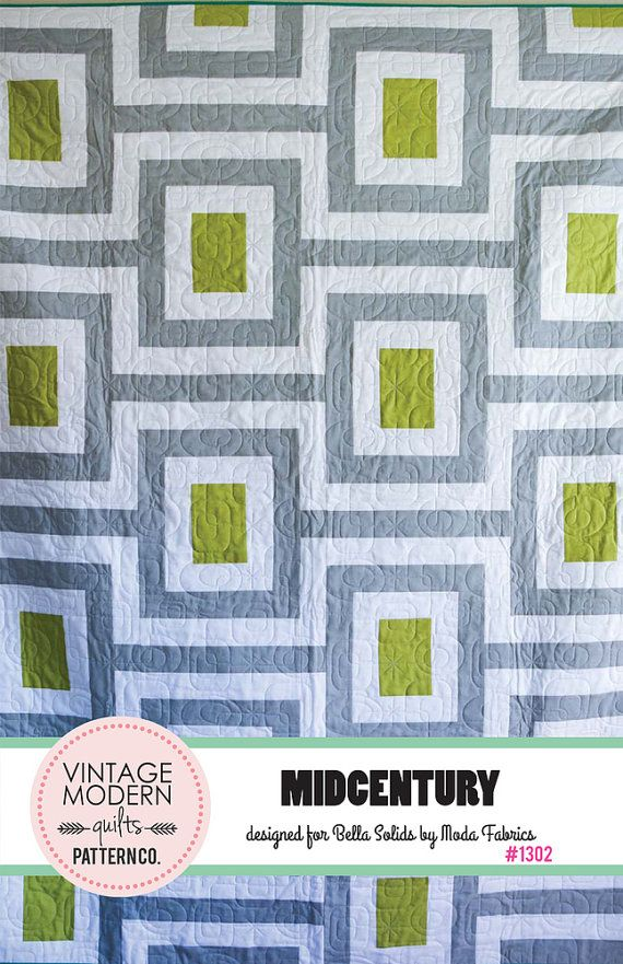 Midcentury Links Quilt PATTERN by Vintage Modern Quilts - Bella Solid?