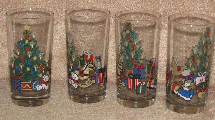 1988 Christmas Drinking Glasses