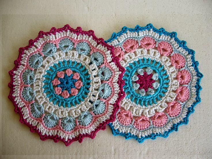 Crochet Mandala : Twin crochet mandalas My Crochet Projects - Crochetkari Pinterest