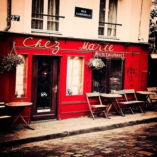 Paris Photography, Montmartre Cafe | French cafe | Pinterest