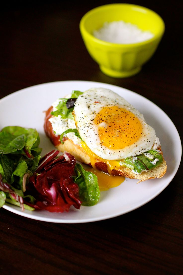 Open Faced Egg Sandwiches with Ricotta | Eggcellent~ | Pinterest
