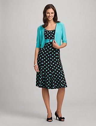 Polka Dot Jacket Dress Dress Barn $52