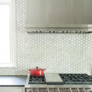 carrera marble hex backsplash garlen pinterest