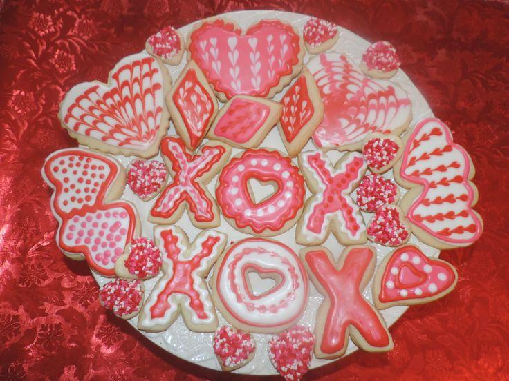 Valentine Sugar Cookies | Valentine's | Pinterest