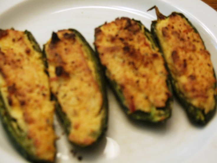 Stuffed Jalapenos (Donna's recipe) *jalapenos cut in 1/2 & seeded *3 ...